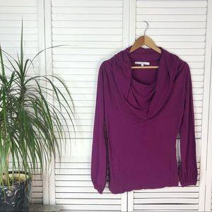 Rebecca Beeson cowl neck knit top